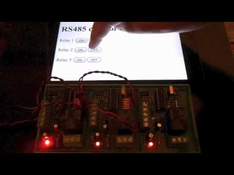 Control RS485 Relays from a web browser