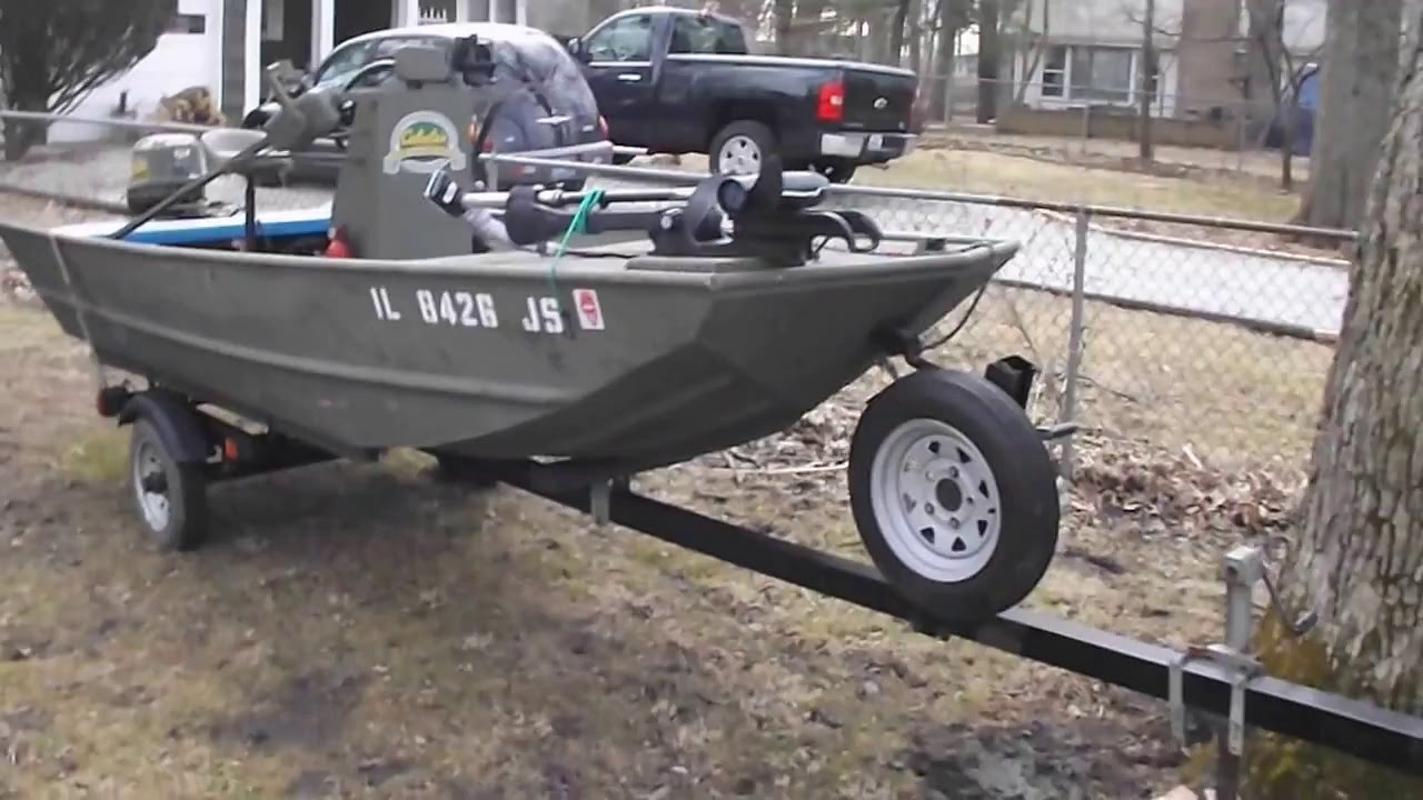 Unusual 14 Grumman Center Console Jon Boat Youtube