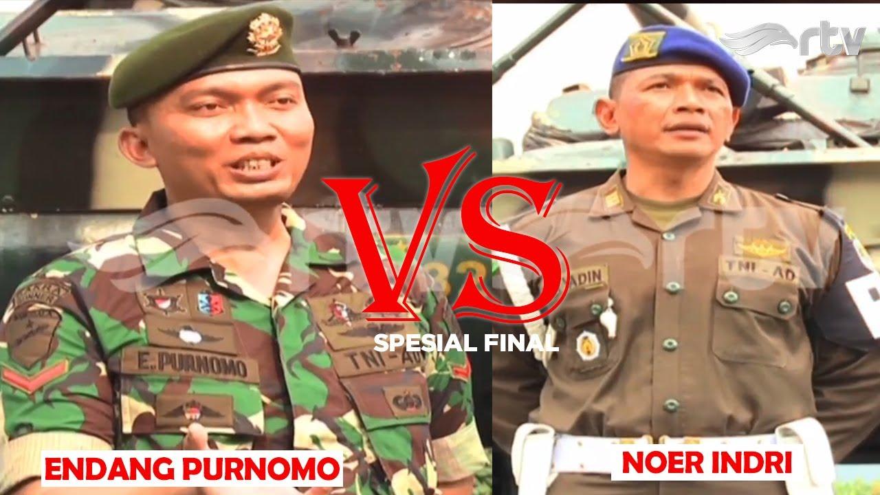 SERU ! Anggota TNI bertarung di Final Adu Kuat RTV  Endang Purnomo VS Noer Indri