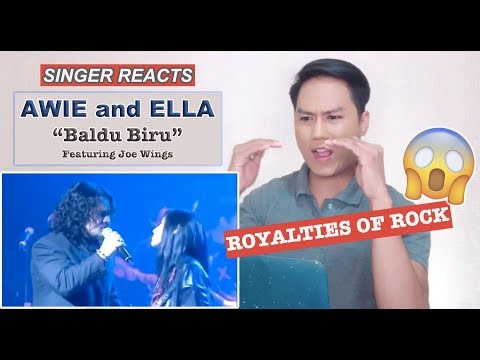 Ella & Awie - Baldu Biru feat Joe Wings SINGER REACTS