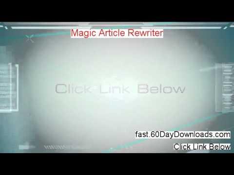 Magic Article Rewriter Crack - Magic Article Rewriter