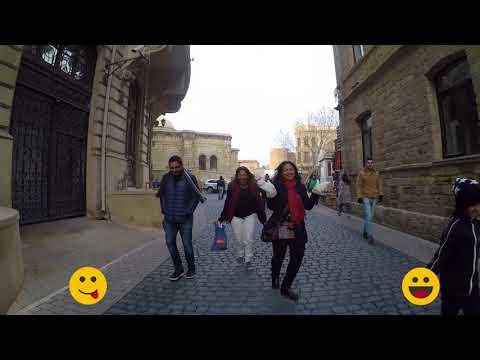 Cute Indian Girl Exploring Azerbaijan