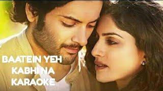 Baatein yeh kabhi na Female Karaoke | Palak Muchhal | Khamoshiyan