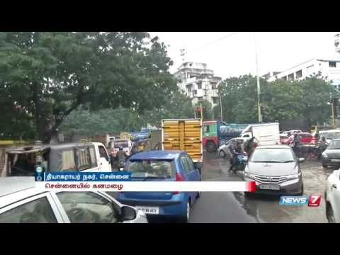 Heavy rain and contaminated water cripples traffic @ T Nagar | News7 Tamil