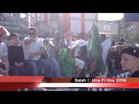 أجواء مشجعي الخضر بملعب سيون  في  مدينة كانتون بسويسرا     Algeria vs Armenia 3-1