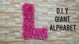 D.I.Y GIANT ALPHABET FOR KIDS ROOM