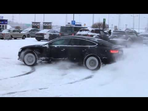 BMW xdrive vs AUDI quattro drift snow