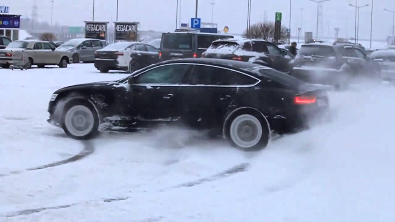 Bmw Xdrive Vs Audi Quattro Drift Snow Youtube
