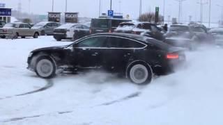 BMW xdrive vs AUDI quattro drift snow