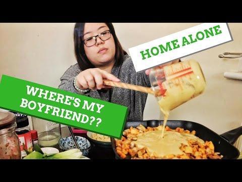 Creamy Kimchi Pasta + Sweet Melting Mochi | Vegan GF MUKBANG