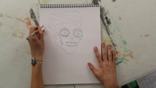 How to Draw a Mummy Tomb Mask : Art Projects