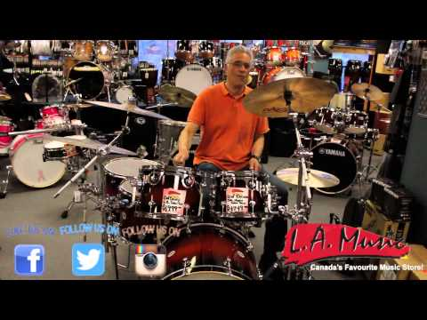 LA Music Canada - Victor Demoing The DW Design Series 5 Piece Lacquer Shell Pack Tobacco Burst
