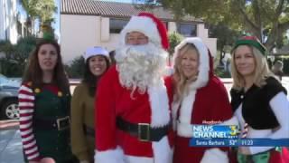 Santa Pays a Visit to Pediatric Units at Santa Barbara Cottage Hospital