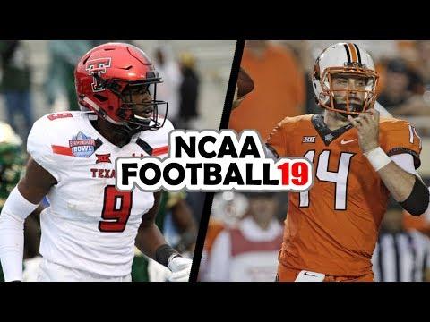 Texas Tech @ Oklahoma State - 9-22-18 NCAA Football 19 Week 4 Simulation