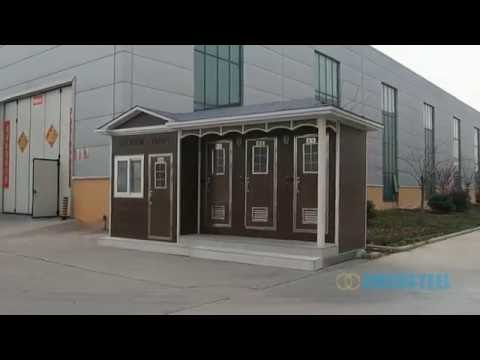 Portable public toilet restroom built with shipping - Shipping container public bathroom ...