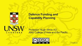 Defence Funding And Capability Planning By Hugh White
