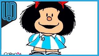 """Juan Salvador Lavado Tejón, Quino, fue conocido en el mundo como el creador de Mafalda, la famosa niña contestataria. Pero además de la famosa tira,el dibujante y humorista explotó su atracción por el futbol, """"pero no como deporte, sino como fenómeno social"""".     #Mafalda #Quino #Futbol"""