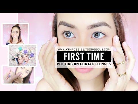 First Time Wearing Contact Lenses (Using AIR OPTIX) | Kim Mendoza