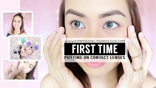 First Time Wearing Contact Lenses (Using AIR OPTIX) | Kimpossibly Gorgeous