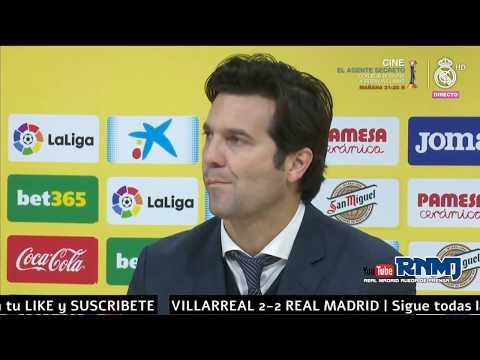 Villarreal 2-2 Real Madrid Rueda de prensa de SOLARI (03/01/2019)