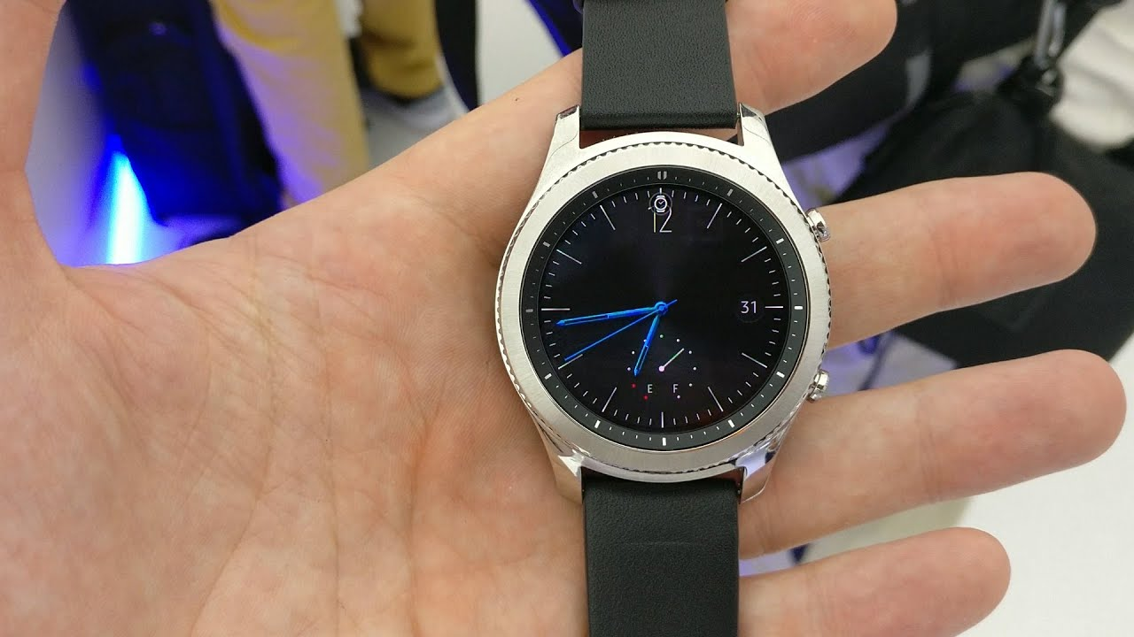 23710d9ee70 Samsung Gear S3 Classic hands on review - YouTube