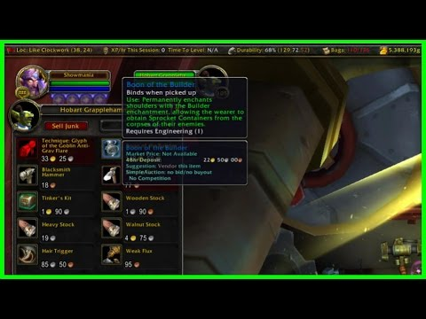 New Shoulder Enchant Gold Guide/PSA - Boon of the Builder - Engineering WoW Legion
