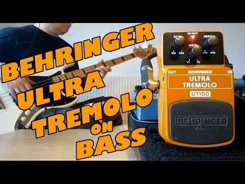 Behringer Ultra Tremolo UT100 ( Bass Demo)