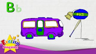 b is for bat bell bus letter b alphabet song   learning english for kids