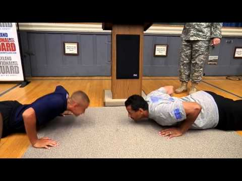 JROTC Student Challenges NFL Hall of Famer Rod Woodson to Push-up Contest