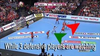 Attacking 5-1 defense - Handball Coaching #1