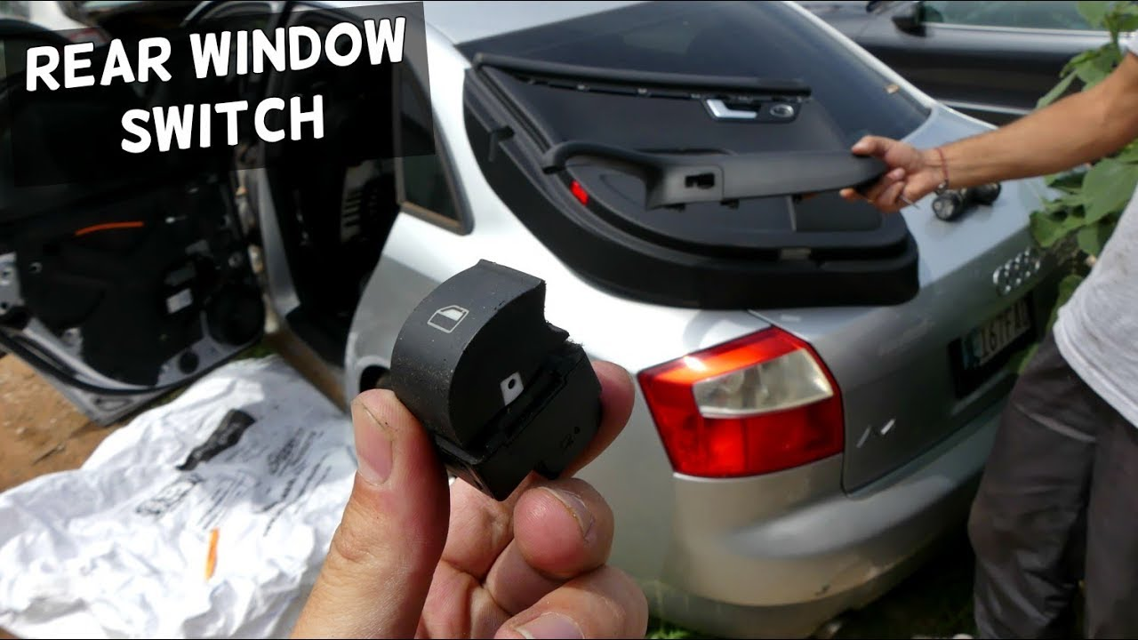 How To Remove And Replace Rear Window Switch On Audi A4 B6 Youtube 2005 Kia Sportage Dash Removal
