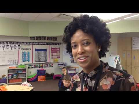Janelle Hunter, first-grade teacher at Whitehall's Kae Avenue Elementary School