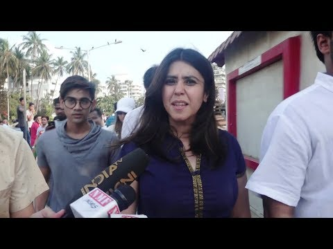 Ekta Kapoor participates in Justice for Asifa Protest Rally at Bandra, Mumbai.