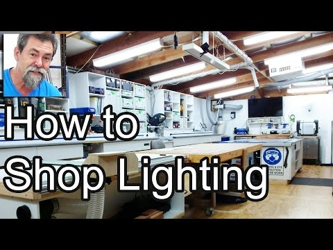 how to light my shop solar DIY lighting dave stanton woodworking