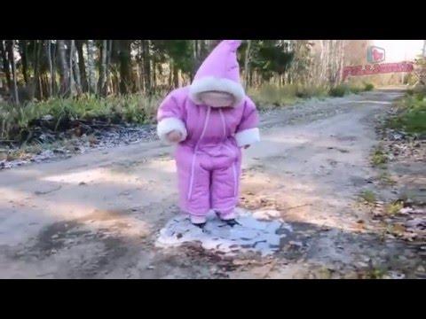 Смешной ребенок на льду Прикол » Видео приколы на ютубе