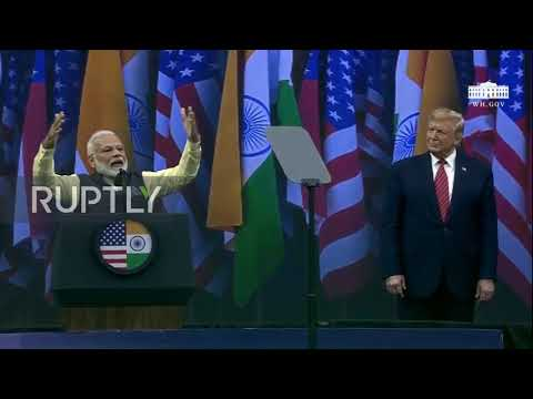 USA: Trump Praises Relationship With India At 'Howdy Modi' Rally In Houston