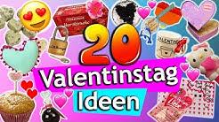 20 VALENTINSTAG DIY Ideen | einfach, günstig & süß | Geschenke für Verliebte, für Freund & Freundin