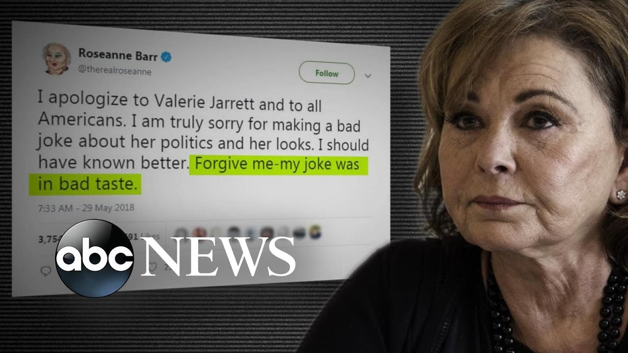 Roseanne  canceled after Roseanne Barr s racist tweet   YouTube  Roseanne  canceled after Roseanne Barr s racist tweet