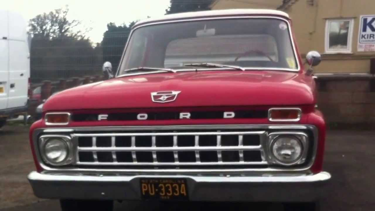 1965 ford f100 ranger custom cab pickup truck review youtube