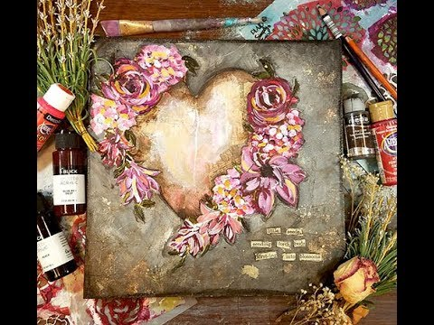 Stencils as your guide floral heart Sunday inspiration 4 29 18