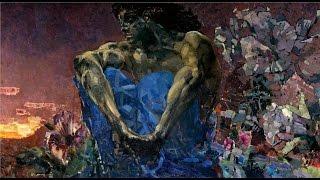 Демон сидящий, Михаил Врубель