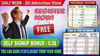 Social Add World Sign Up !! Non Investment Revenue Programm !! Full Review !!