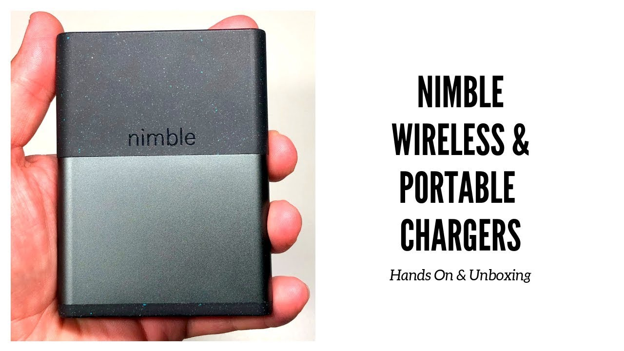 2b9e6f109bddbd Nimble Portable Chargers & Wireless Charger Unboxing & Hands On ...