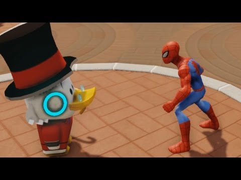 Scrooge McDuck and Spiderman