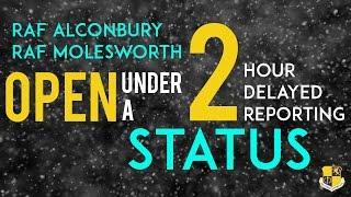 RAF Alconbury & RAF Molesworth 2 Hour Delayed Reporting | Jan. 13, 2017