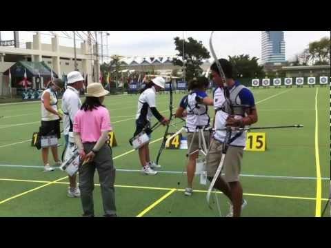 Archery Asian Grand Prix: Mongolia vs Philippines - YouTube