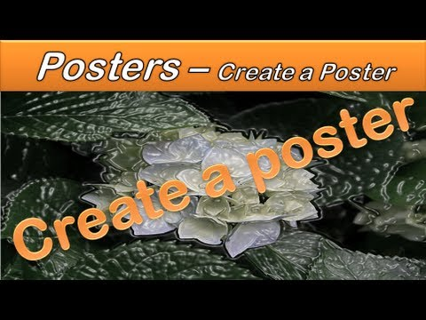 how to create poster on word