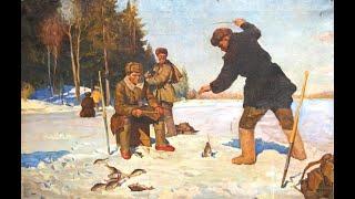 Зимняя ретро рыбалка на реке Хопёр возле бывшей базы отдыха