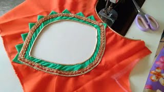 Pati Back Neck Design Cutting and Stitching // Round Back Designs //Beautiful Blouse Design at Home