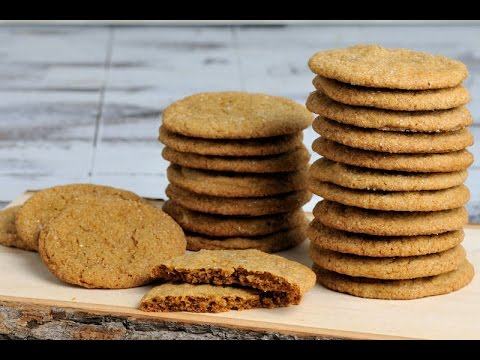 gingersnap-cookies-with-crystallized-ginger,-haniela's